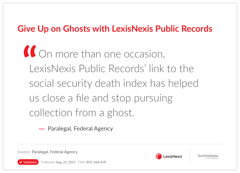 Give Up on Ghosts with LexisNexis Public Records