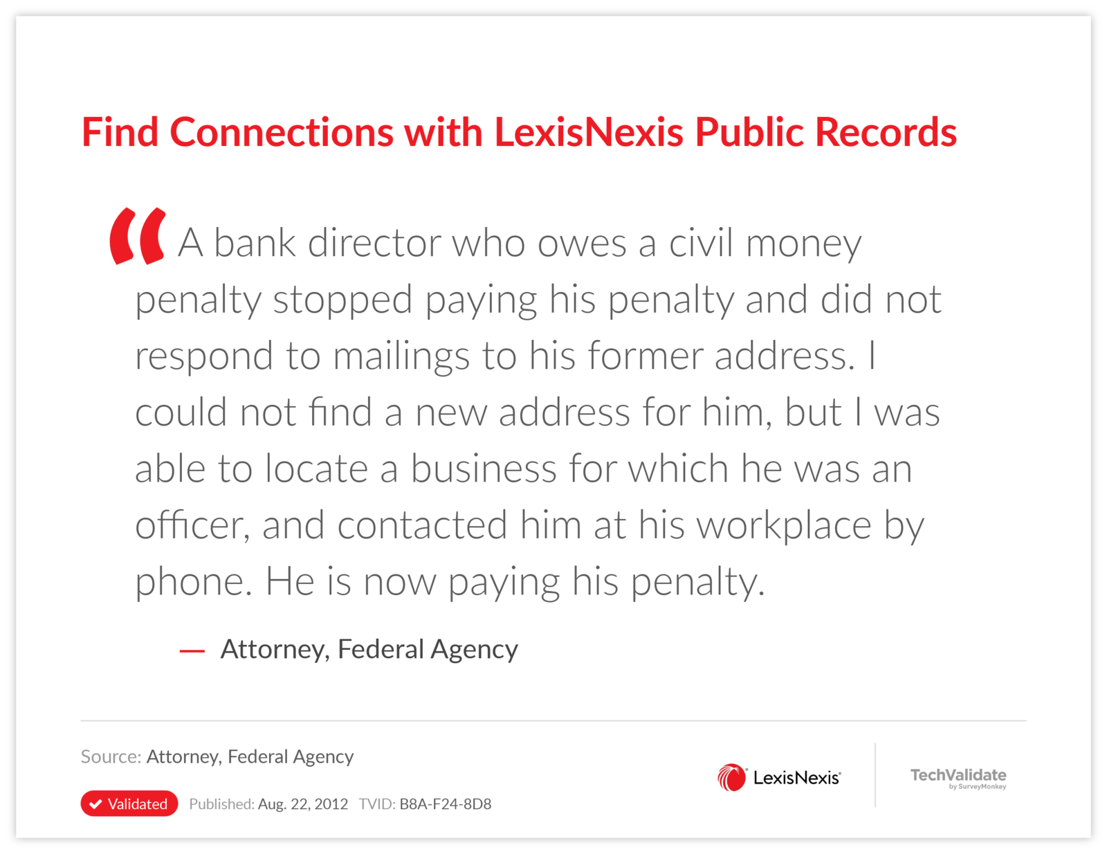 Find Connections with LexisNexis Public Records