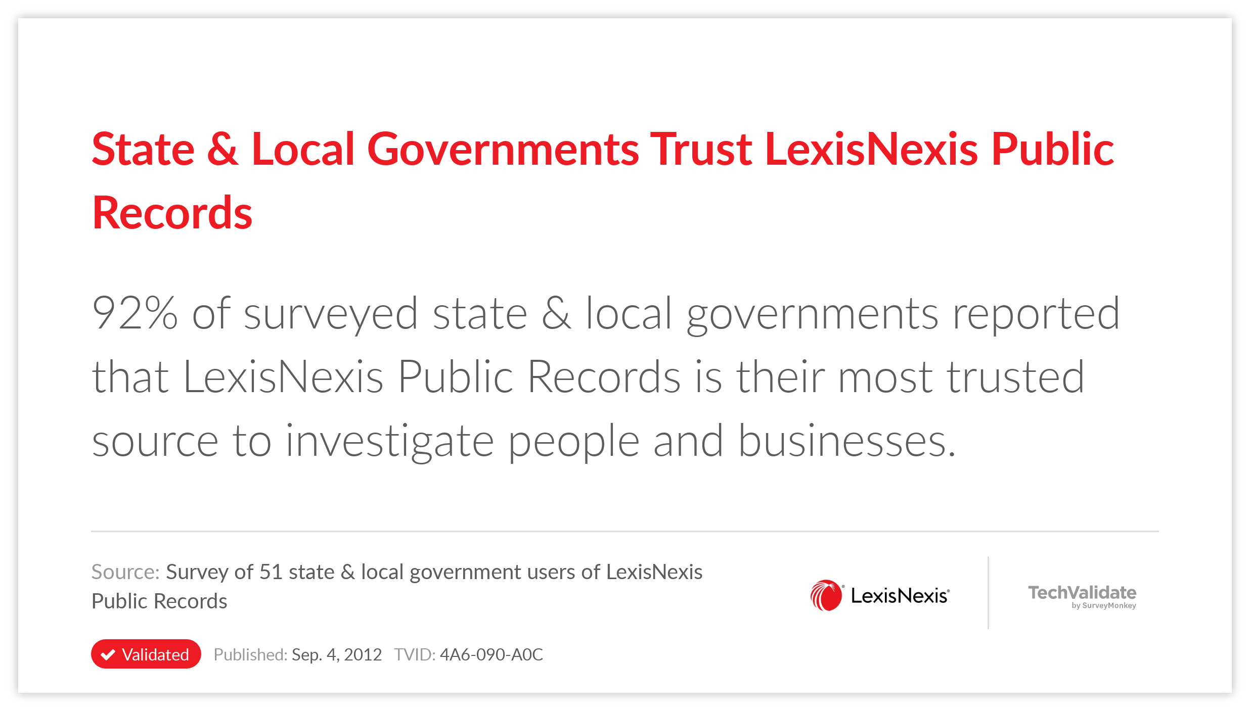 State & Local Governments Trust LexisNexis Public Records