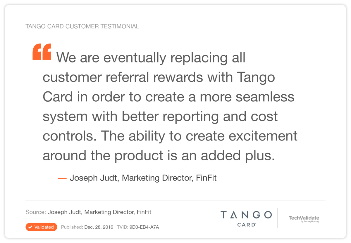 Referral Incentives - E-Gift Cards - Use Case Study