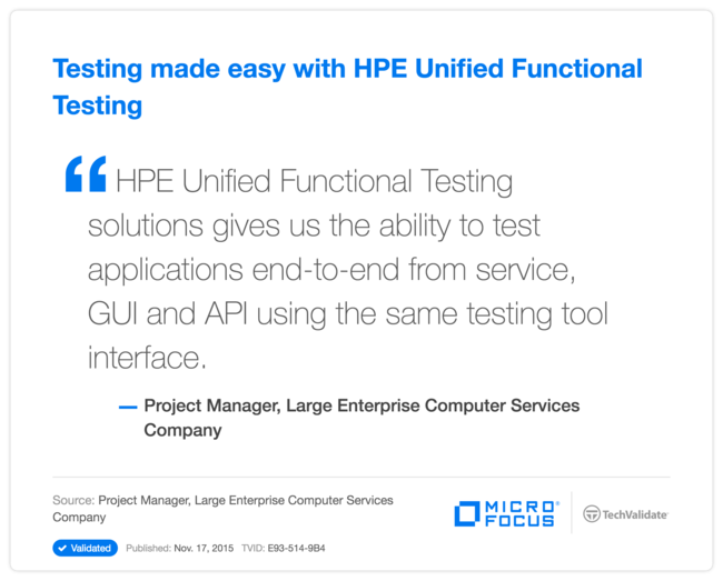 Testing made easy with HPE Unified Functional Testing