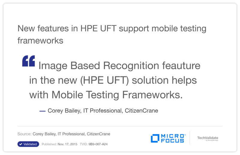New features in HPE UFT support  mobile testing frameworks