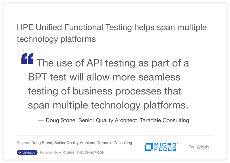 HPE Unified Functional Testing helps span multiple technology platforms