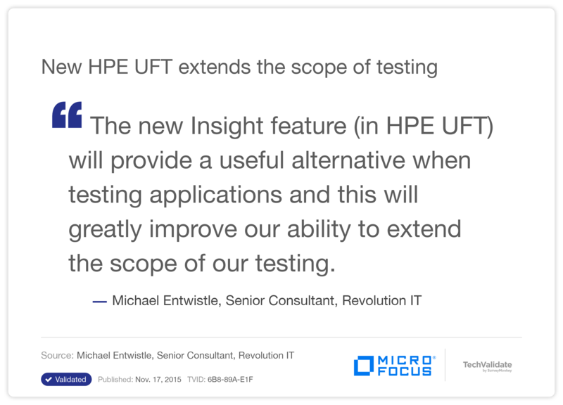 New HPE UFT extends the scope of testing