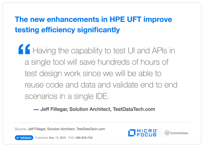 The new enhancements in HPE UFT improve testing efficiency significantly