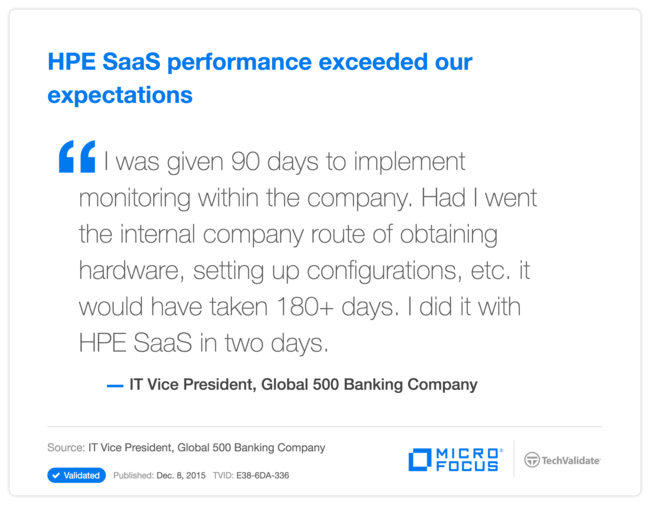HPE SaaS performance exceeded our expectations