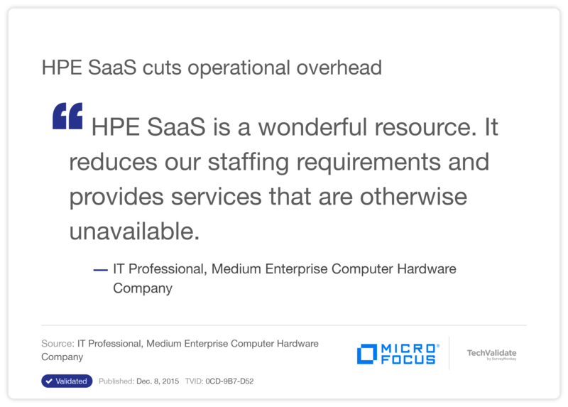 HPE SaaS cuts operational overhead