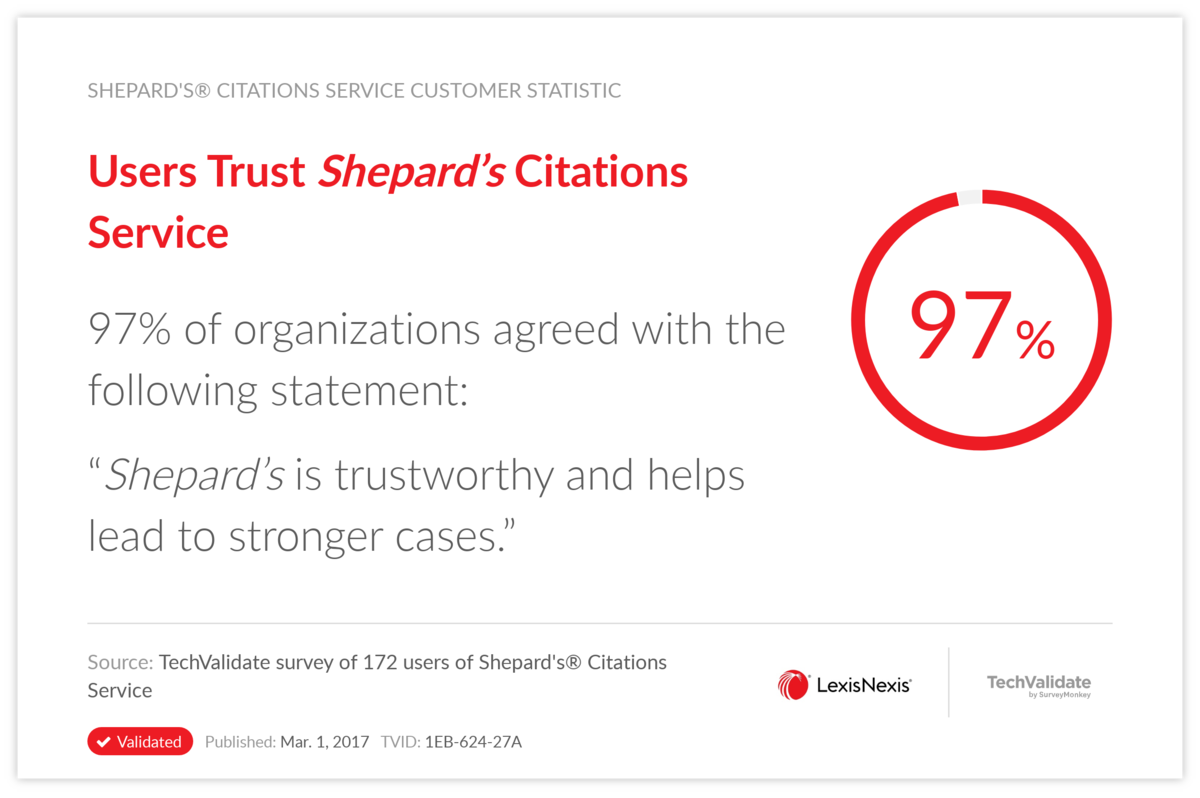 Users Trust Shepard's Citations Service