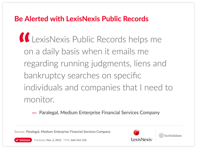 Be Alerted with LexisNexis Public Records
