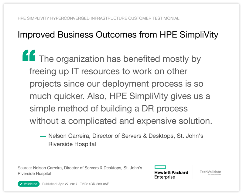 Improved Business Outcomes from HPE SimpliVity