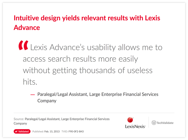 Intuitive design yields relevant results with Lexis Advance