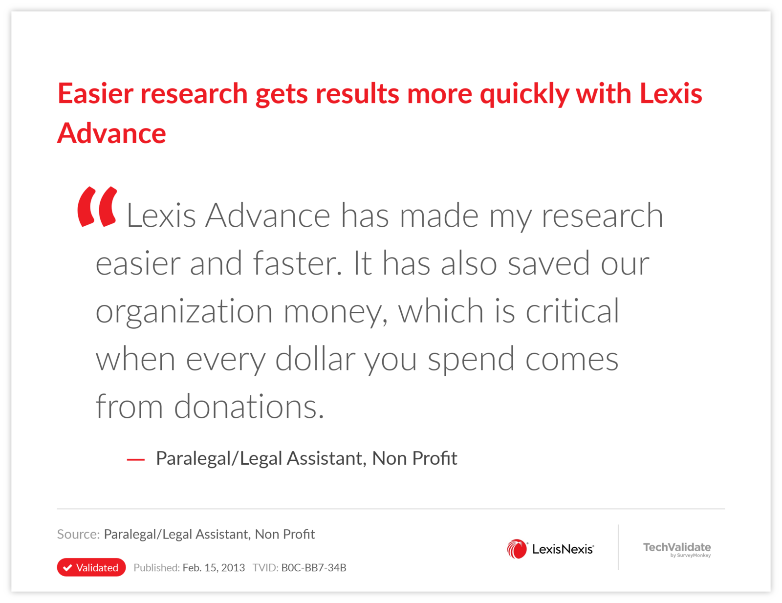 Easier research gets results more quickly with Lexis Advance