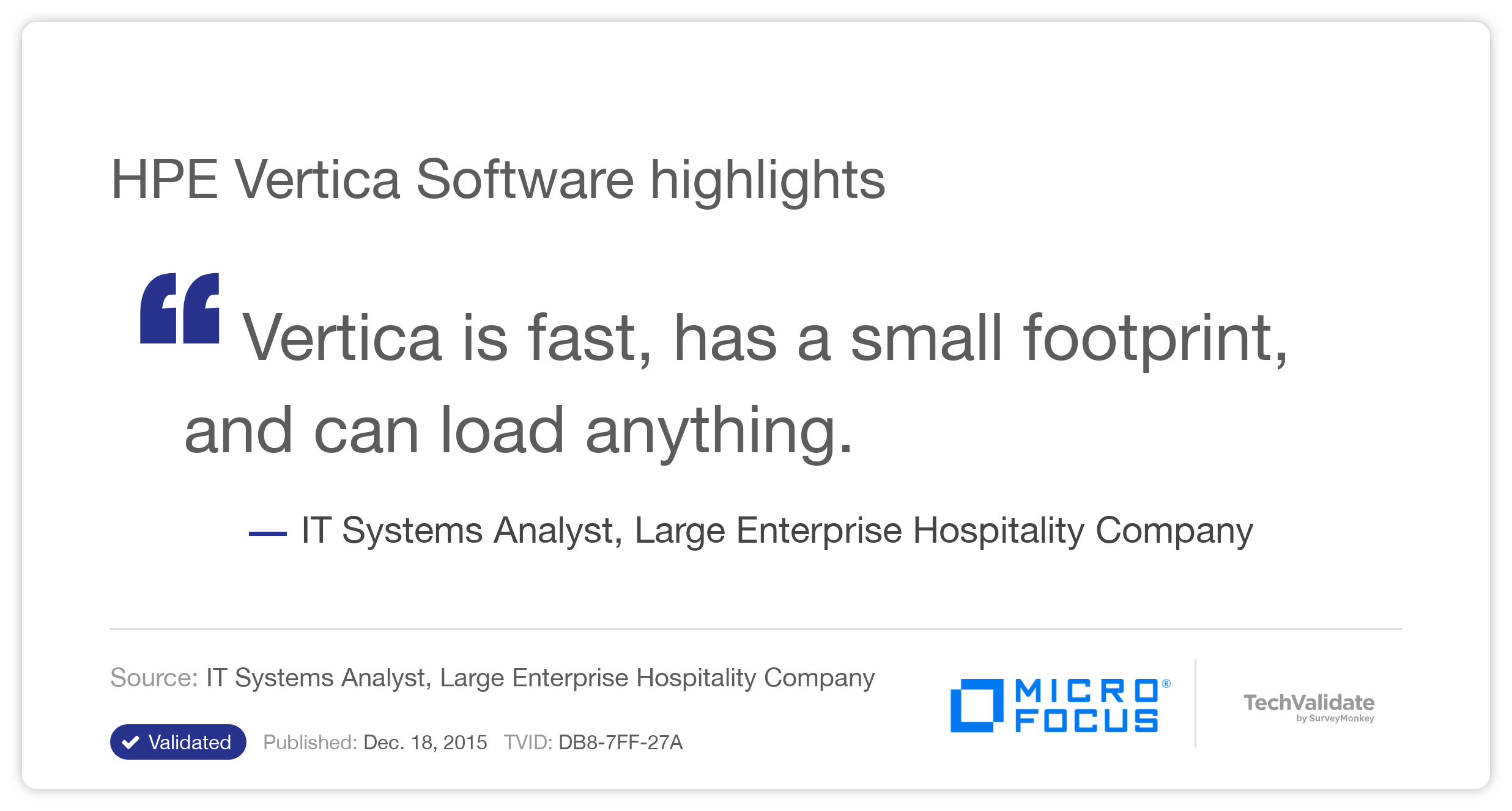 HPE Vertica Software highlights