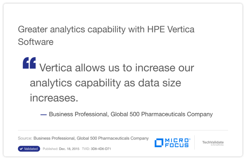 Greater analytics capability with HPE Vertica Software