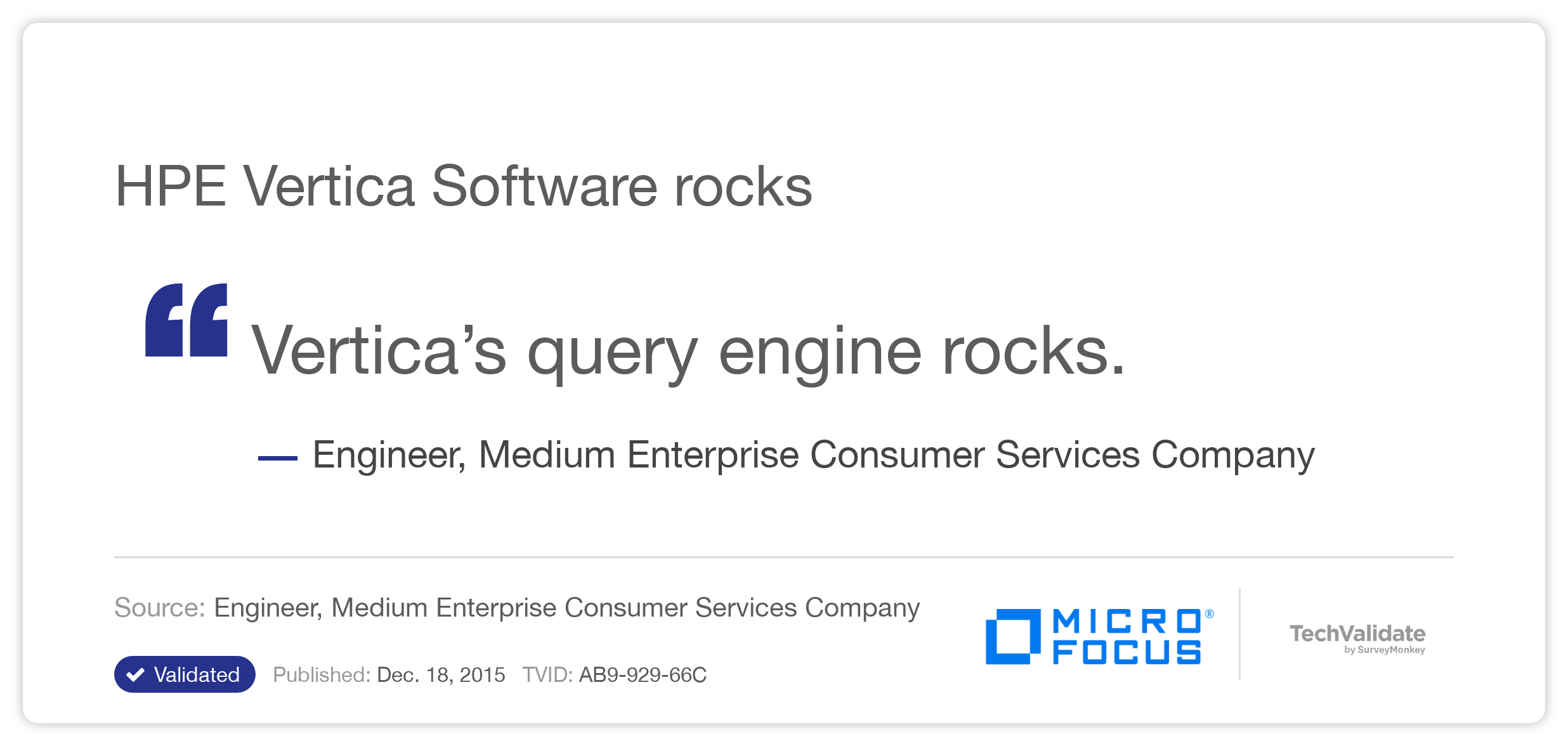 HPE Vertica Software rocks