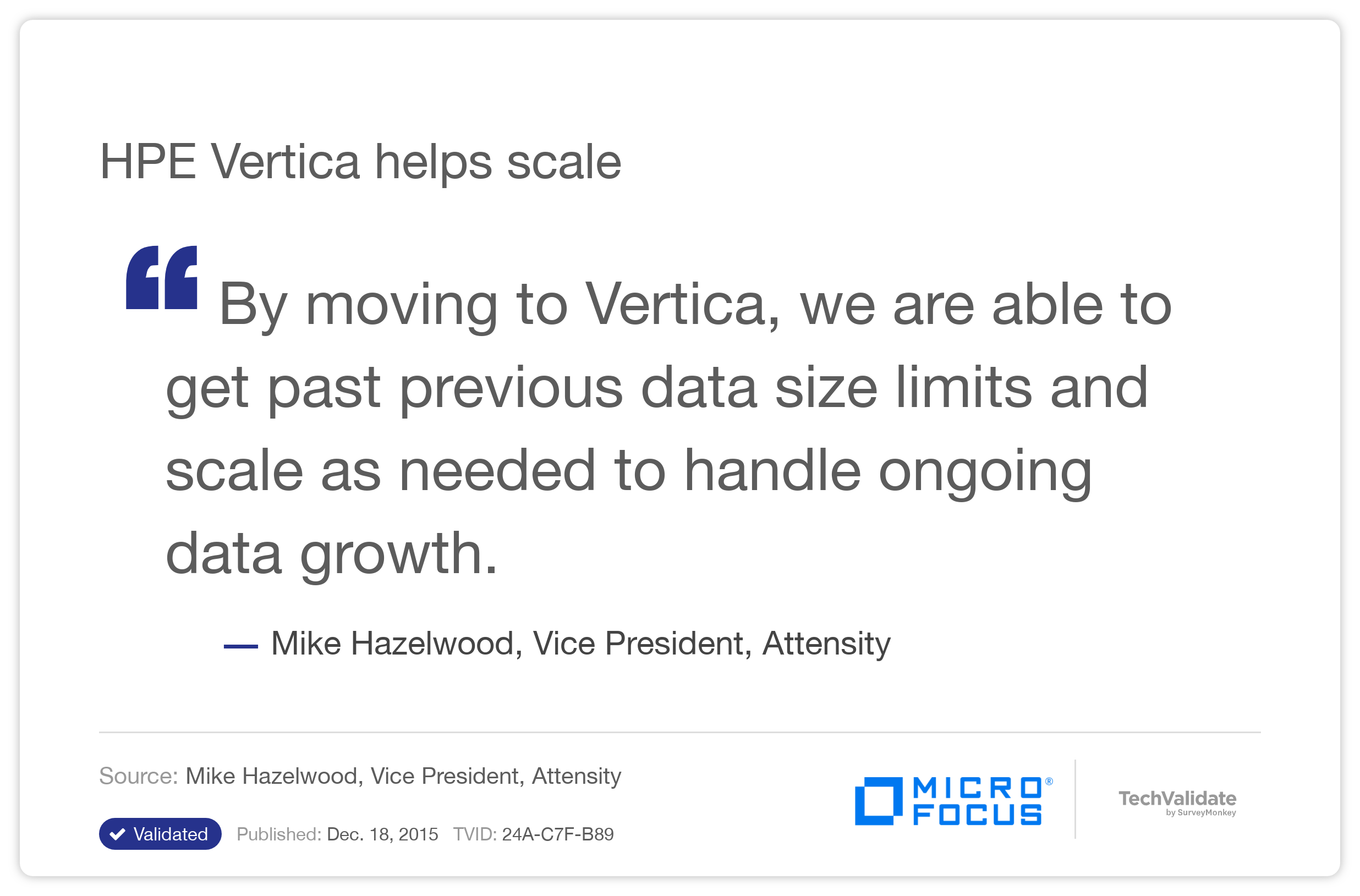 HPE Vertica helps scale