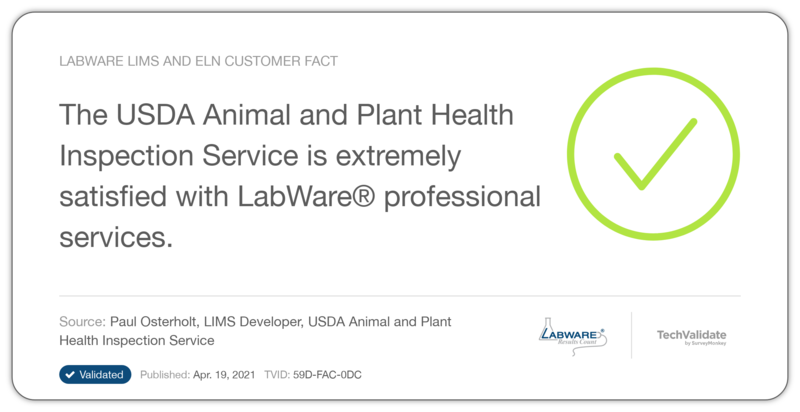 LabWare LIMS and ELN Customer Fact