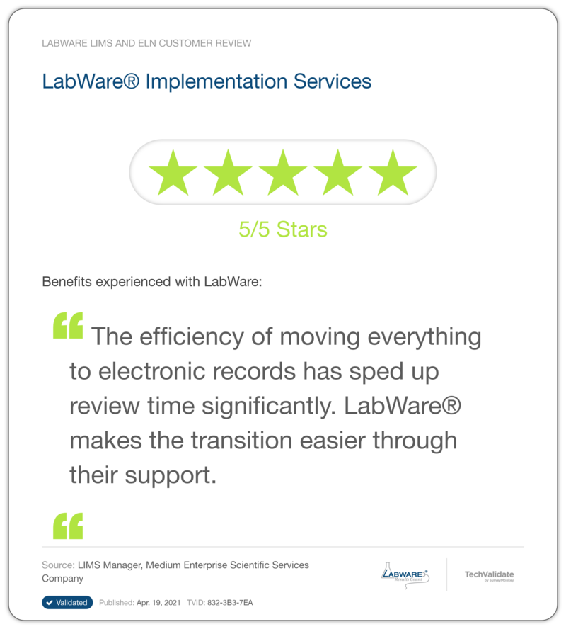LabWare LIMS and ELN Customer Review