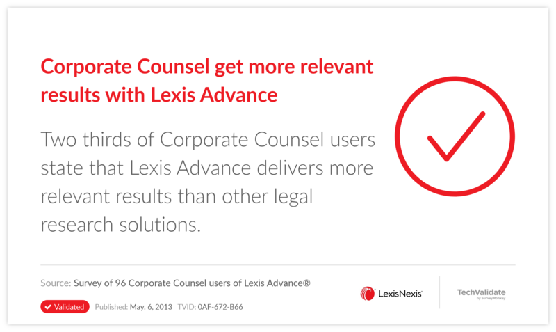 Corporate Counsel get more relevant results with Lexis Advance