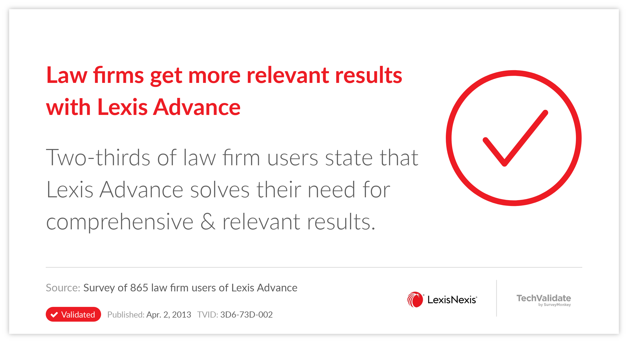Law firms get more relevant results with Lexis Advance