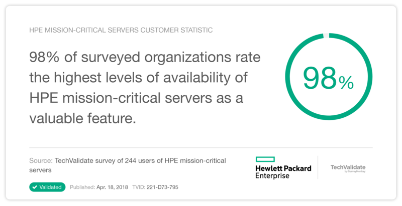 HPE mission-critical servers Customer Statistic