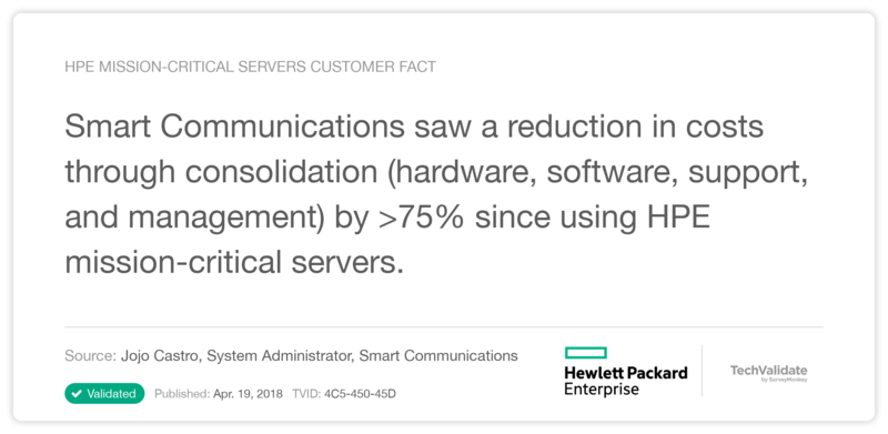HPE mission-critical servers Customer Fact