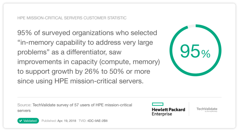 HPE Mission-critical Servers - Collection of Proof Points