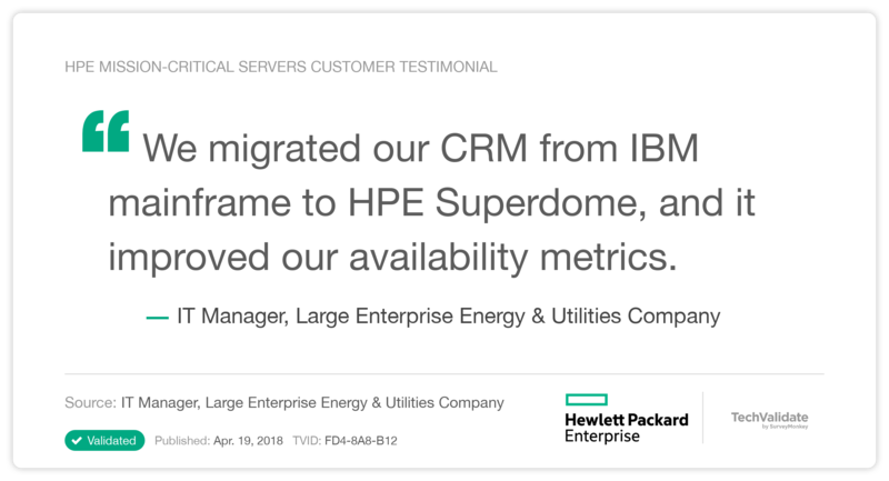 HPE mission-critical servers Customer Testimonial