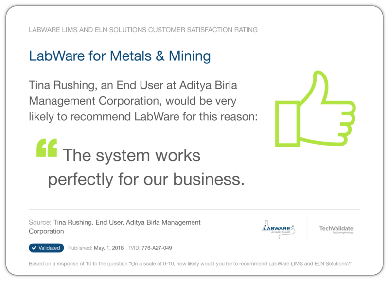 LabWare for Metals & Mining