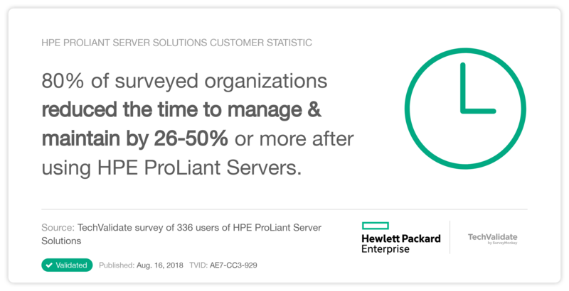 HPE ProLiant Server Solutions Customer Statistic