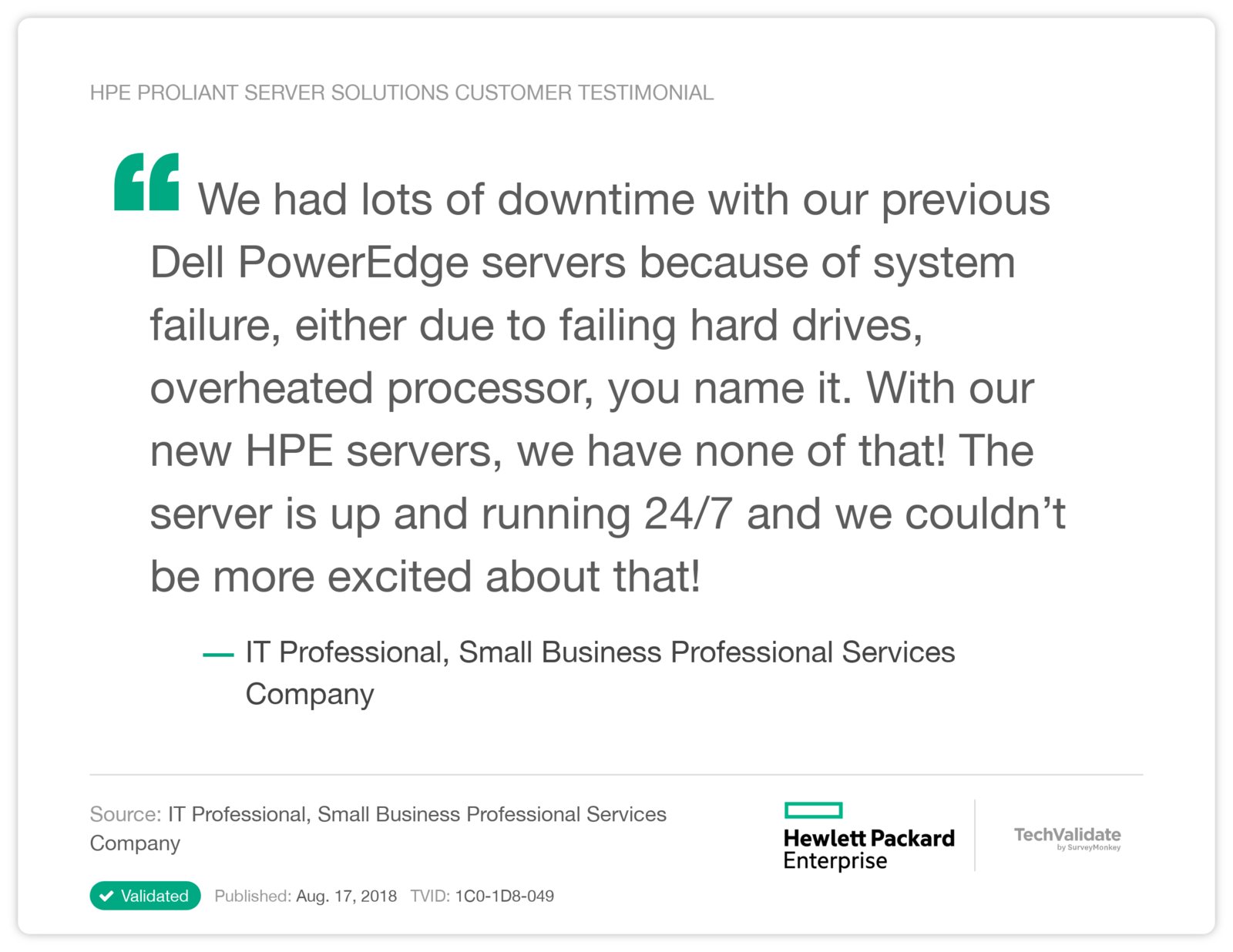 HPE ProLiant Servers - Collection of Proof Points | Hewlett Packard