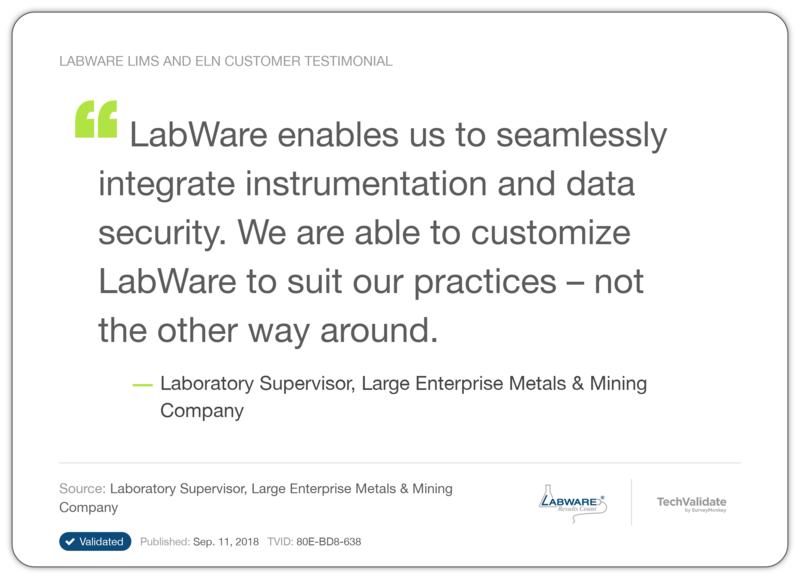 LabWare LIMS and ELN Customer Testimonial