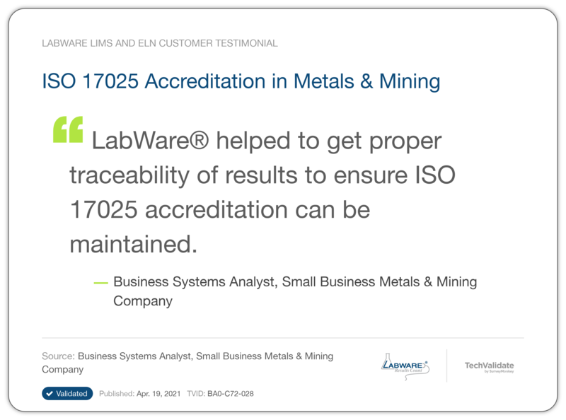 ISO 17025 Accreditation in Metals & Mining