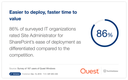 Easier to deploy, faster time to value