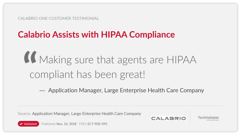 Calabrio Assists with HIPAA Compliance