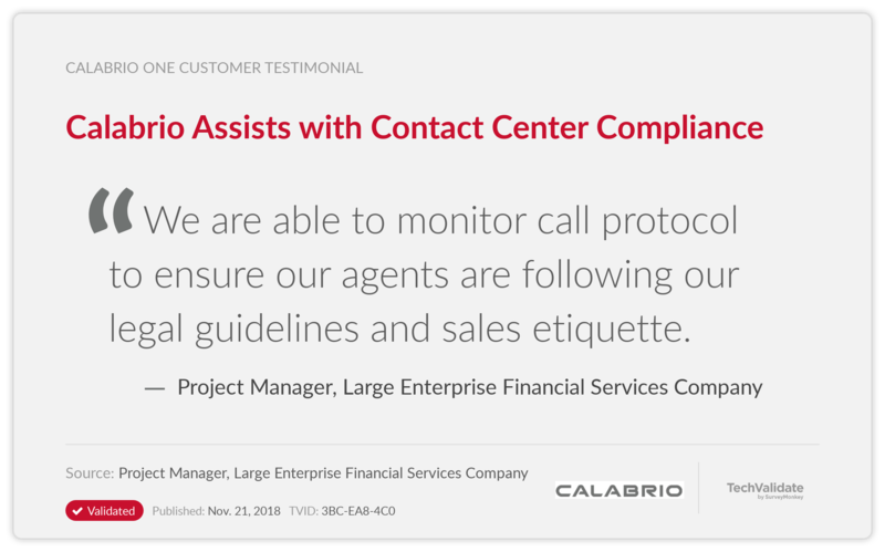 Calabrio Assists with Contact Center Compliance