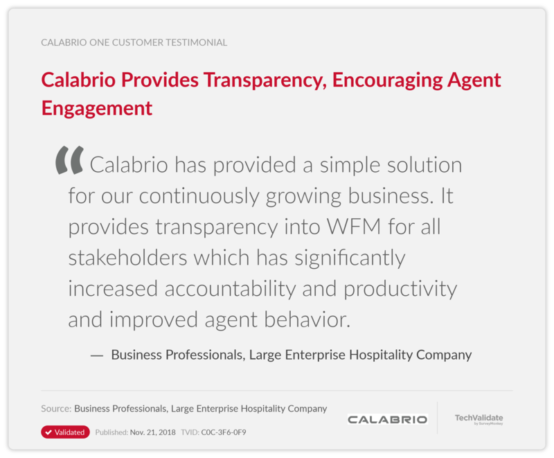 Calabrio Provides Transparency, Encouraging Agent Engagement
