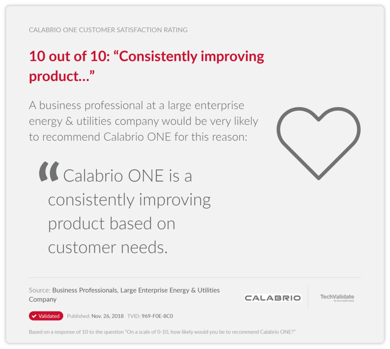 "10 out of 10: ""Consistently improving product..."""