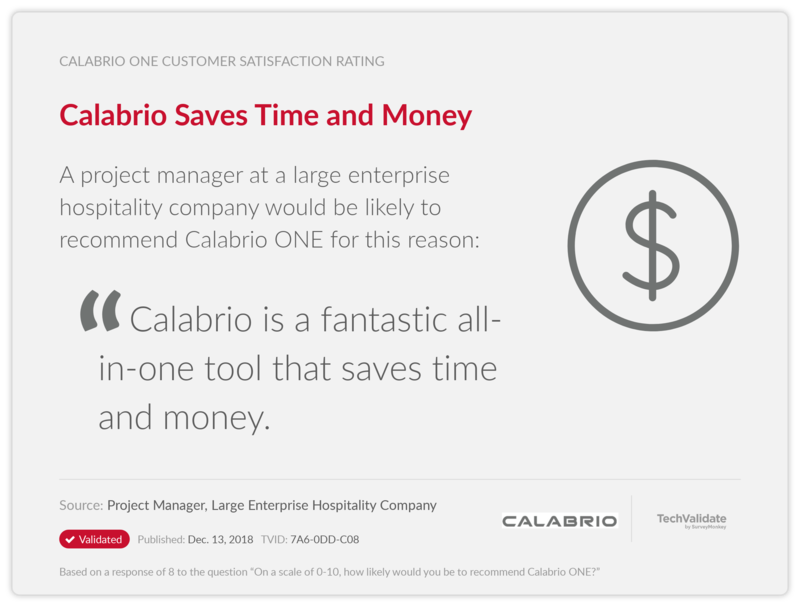 Calabrio Saves Time and Money