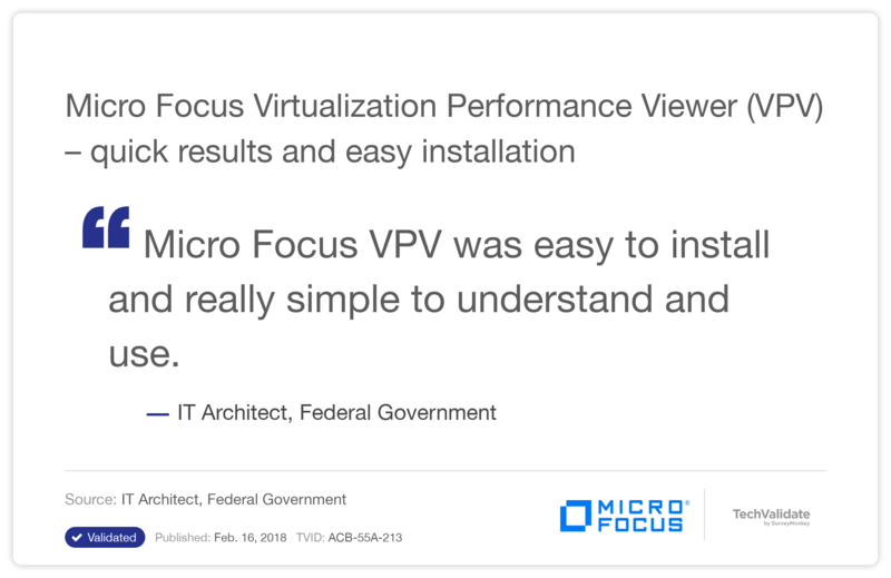 HPE Virtualization Performance Viewer (VPV)-quick results and easy installation