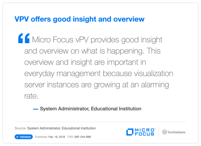 VPV offers good insight and overview