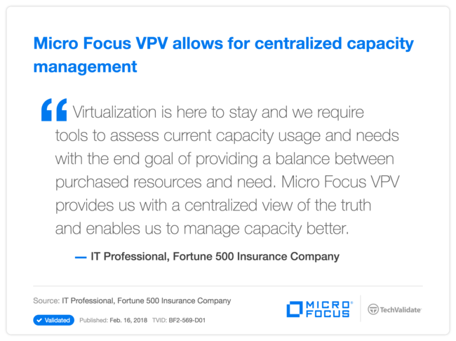 HPE VPV allows for centralized capacity management