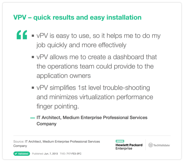 VPV-quick results and easy installation