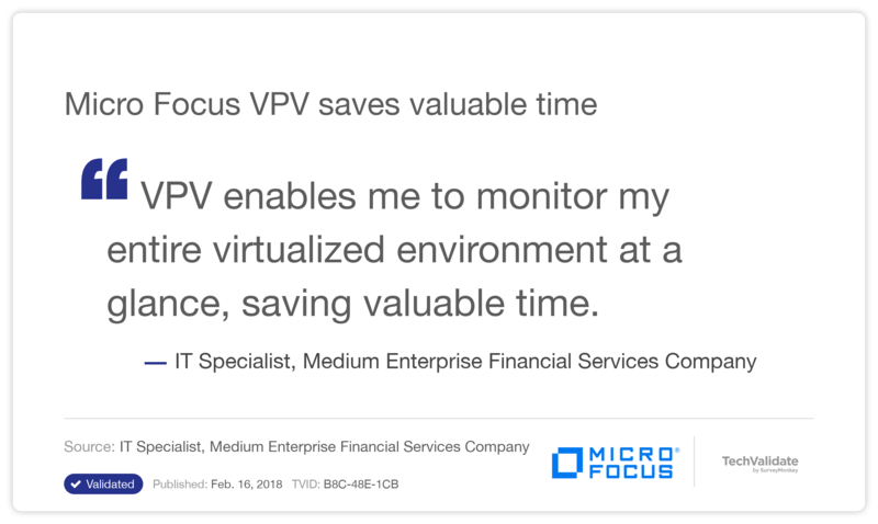 HPE VPV saves valuable time