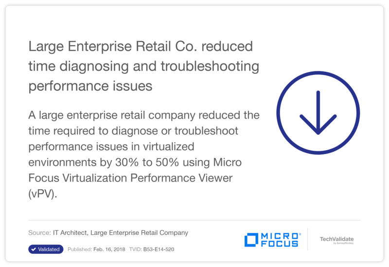 Large Enterprise Retail Co. reduced time diagnosing and troubleshooting performance issues